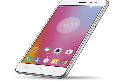 lenovo k6 smartphone power