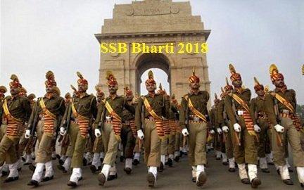 एसएसबी भर्ती 2018, SSB Bharti 2018