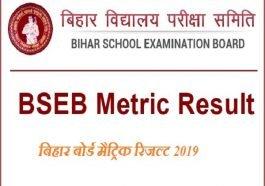 बिहार बोर्ड मैट्रिक रिजल्ट 2019: बिहार बोर्ड (BSEB) 10वीं रिजल्ट 2019, BSEB 10th Results